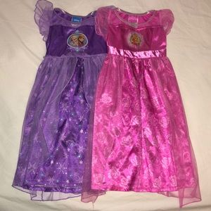 (2) Disney princess sleep dresses